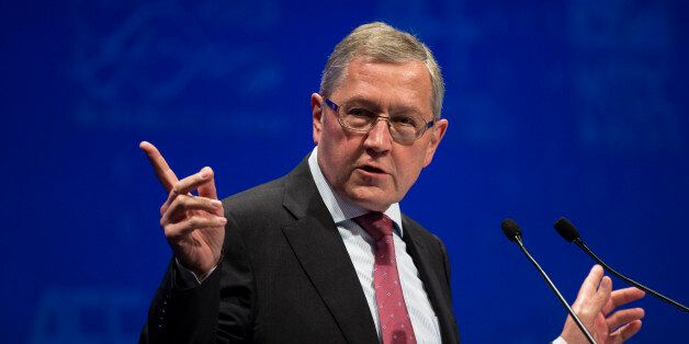 European Stability Mechanism Managing Director Klaus Regling attends the Asian Financial Forum in Hong...