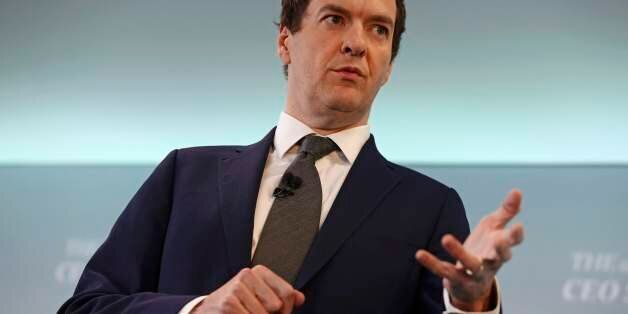 LONDON, ENGLAND - JUNE 28: Britain's Chancellor of the Exchequer, George Osborne, speaks at The Times...
