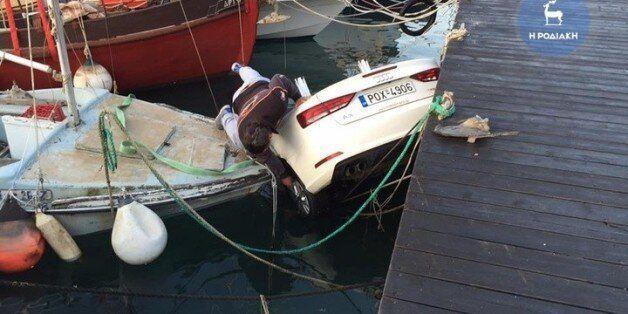 Ρόδος: Νεαροί τουρίστες «προσγείωσαν» αυτοκίνητο μέσα σε