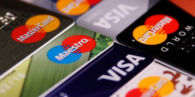 MasterCard, VISA and Maestro credit cards are seen in this picture illustration taken June 9, 2016. REUTERS/Maxim