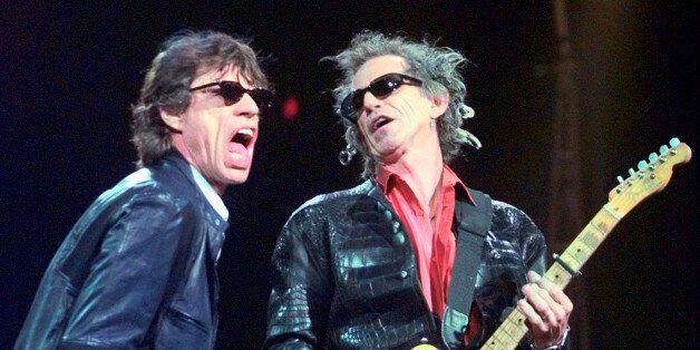 FILE - In this Monday, March 22, 1999, file photo, Mick Jagger, left, and Keith Richards