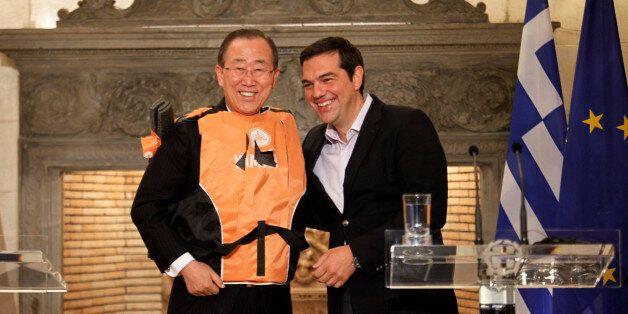 Ηχηρό μήνυμα Τσίπρα και ΓΓ του ΟΗΕ για το προσφυγικό. Το θαυμασμό του για την Ελλάδα εξέφρασε ο Μπαν...