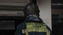 Πυρκαγιά σε εργοστάσιο στην παλιά εθνική οδό Λάρισας -
