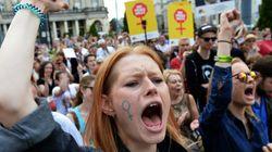 Πορεία ενάντια σε νομοσχέδιο για την πλήρη απαγόρευση των αμβλώσεων στην