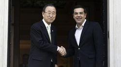 Κοινές δηλώσεις του Αλέξη Τσίπρα με τον ΓΓ του ΟΗΕ Μπαν Γκι