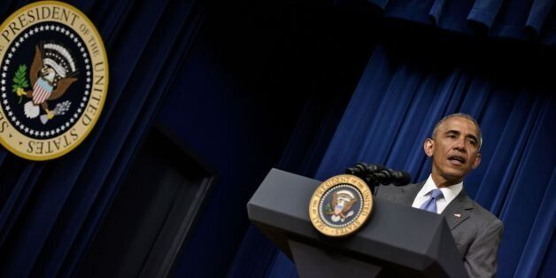 US President Barack Obama speaks before signing H.R. 2576 on the White House campus June 22, 2016 in...