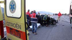 Τέσσερις νεκροί και μία τραυματίας σε τροχαίο στο 121ο χλμ