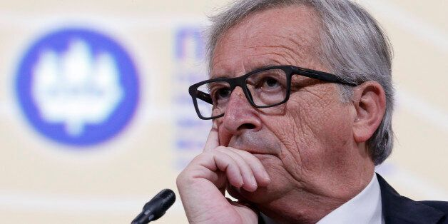 European Commission President Jean-Claude Juncker attends a session of the St. Petersburg International...