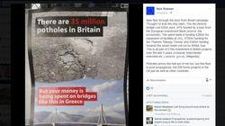 Η καμπάνια του Brexit χρησιμοποιεί το κόστος της γέφυρας Ρίου-Αντιρρίου για να προωθήσει το μήνυμά