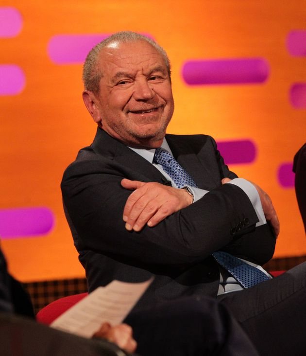 Guest Lord Alan Sugar during filming of The Graham Norton