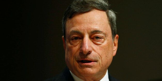Mario Draghi, President of the European Central Bank (ECB) attends the 49th annual meeting of the Asian...