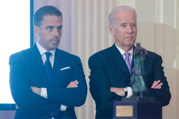 WASHINGTON, DC - APRIL 12: WFP USA Board Chair Hunter Biden introduces his father Vice President Joe...