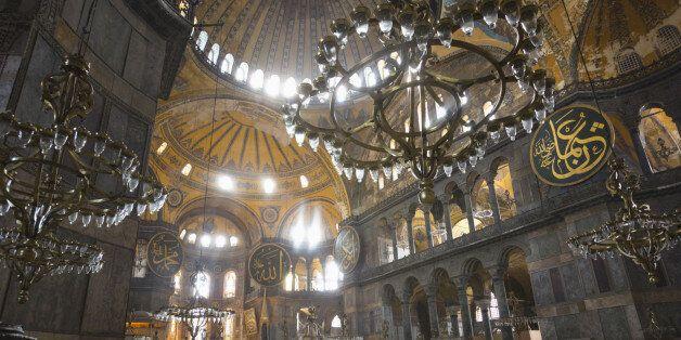 Istanbul, Turkey. Haghia Sophia or Hagia Sophia or Ayasofya. Built as a church in the 6th century, used...