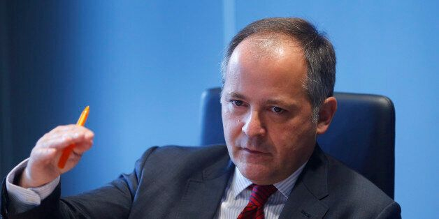 Benoit Coeure, executive board member of the European Central Bank (ECB), speaks during an interview...