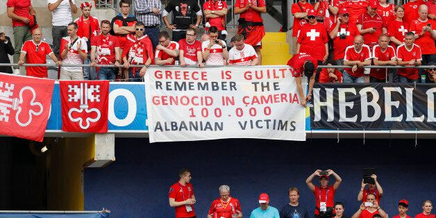 Football Soccer - Albania v Switzerland - EURO 2016 - Group A - Stade Bollaert-Delelis, Lens, France...