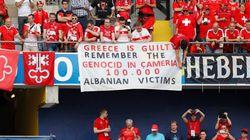 Προκλητικό αλβανικό πανό στο Euro κατά της
