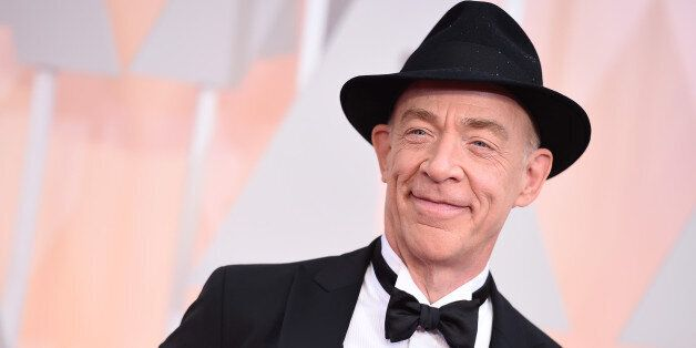 J.K. Simmons arrives at the Oscars on Sunday, Feb. 22, 2015, at the Dolby Theatre in Los Angeles. (Photo...