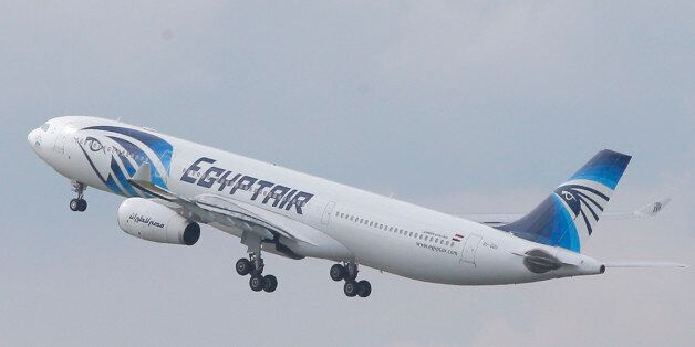 FILE - In this May 19, 2016 file photo, an EgyptAir Airbus A330-300 takes off for Cairo from Charles...