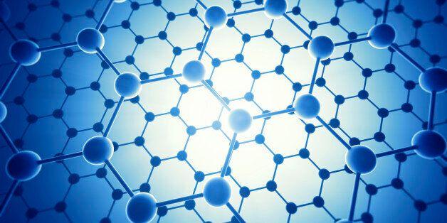 Graphene atomic structure, computer
