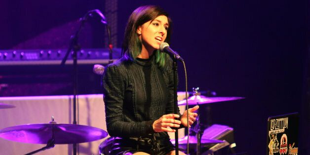 FILE - In this March 2, 2016 file photo, Christina Grimmie performs as the opener for Rachel Platten...