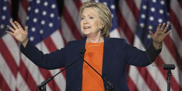 Hillary Clinton, former Secretary of State and 2016 Democratic presidential candidate, delivers a national...