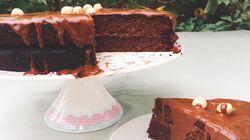Διπλό κέικ σοκολάτας χωρίς