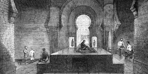 A Turkish bath in Jermyn Street, London, 1891. From Old and New London: a Narrative of its History, its...