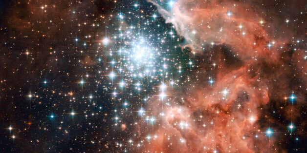 This Hubble Space Telescope image, taken December 29, 2005 and released on October 2, 2007 shows giant...