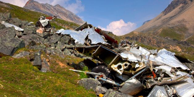 Plane Crash And Wreckage At Merrill Pass During Summer In Alaska, Hdr