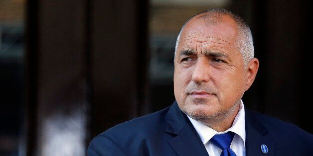 Bulgaria Prime Minister Boyko Borissov arrives for the Anti-Corruption Summit in London, Thursday, May...