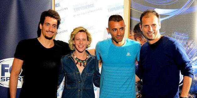Από αριστερά: Γιώργος Αρνιακός, Πανευρωπαϊκός Πρωταθλητής Κολύμβησης Ανοιχτής Θαλάσσης, Κέλλυ Αραουζου,...