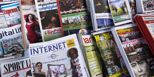 Myanmar is slowly achieving more press freedom resulting in a large increase in periodicals
