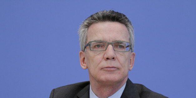 (GERMANY OUT) Berlin, Bundespressekonferenz, Thema: Umsetzungsbericht NSU, Foto: Bundesminister des Innern...