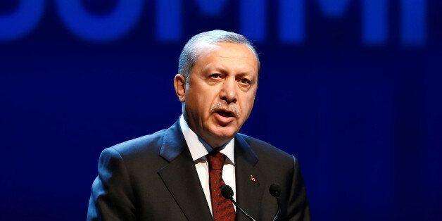 Turkish President Tayyip Erdogan speaks during the opening ceremony of the World Humanitarian Summit...