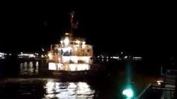 Πλοίο προσέκρουσε στη γέφυρα του Ευρίπου στη