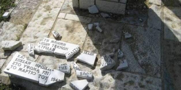 Άγνωστοι κατέστρεψαν το μνημείο στο Ύψωμα