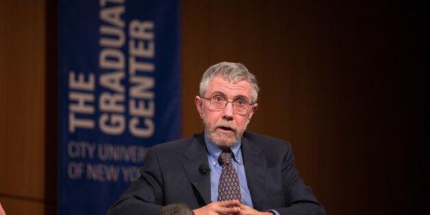 CUNY, NEW YORK CITY, NY, UNITED STATES - 2016/02/18: Paul Krugman, Nobel laureate in Economics, Distinguished...
