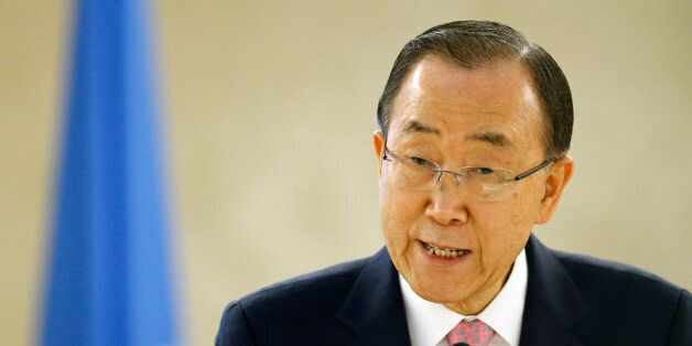 U.N. Secretary-General Ban Ki-moon addresses the Conference on the Prevention of Violent Extremism at...