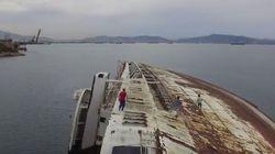 Παρκούρ πάνω στο ναυάγιο του Mediterranean