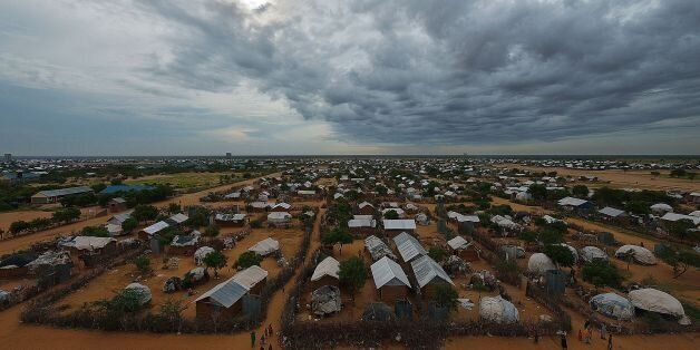 An overview of the part of the eastern sector of the IFO-2 camp in the sprawling Dadaab refugee camp,...