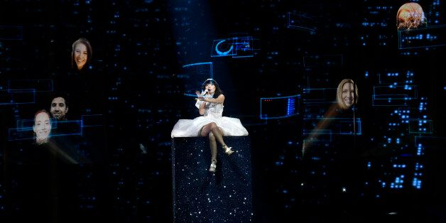 Australia's Dami Im performs the song 'Sound Of Silence' during the second Eurovision Song Contest semifinal...