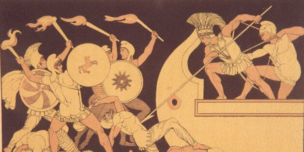 In Greek mythology, the Trojan War was waged against the city of Troy by the Achaeans (Greeks) after...
