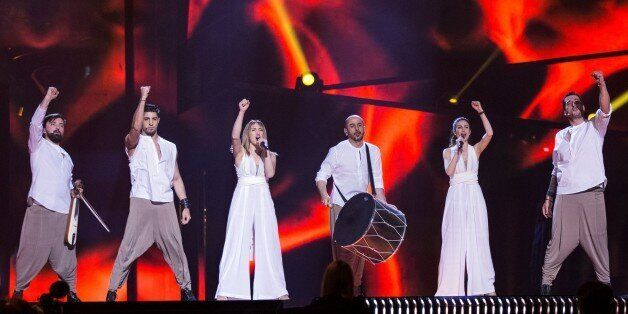 STOCKHOLM, SWEDEN - MAY 9: Group Argo of Greece performs during dress rehearsal of 2016 Eurovision Song...