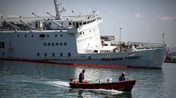 Σφραγίστηκε ο καταπέλτης του πλοίου «Παναγία Τήνου»: Δεν έχει παρατηρηθεί θαλάσσια