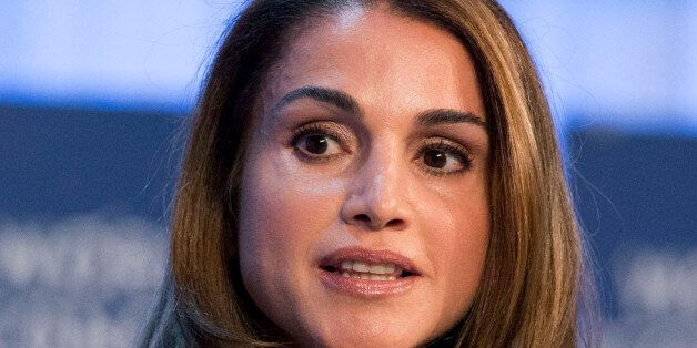 Queen Rania of Jordan, speaks to the assembly of the 43rd Annual Meeting of the World Economic Forum,...
