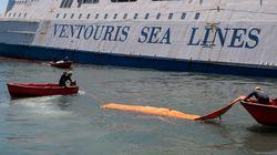 Συνεχίζεται η επιχείρηση στεγανοποίησης του ρήγματος στο πλοίο «Παναγία