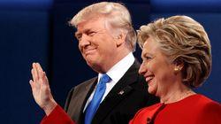 Clinton devance Trump de 3% selon le plus récent