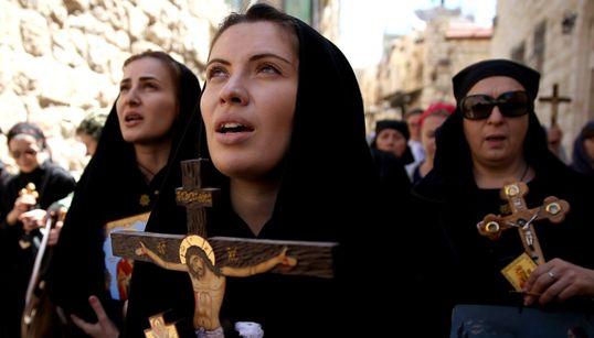 Κλίμα κατάνυξης στα Ιεροσόλυμα. Πλήθος πιστών στους Αγίους Τόπους τη Μεγάλη