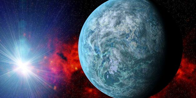 Kepler-20f exoplanet, computer artwork. This Earth-sized planet is found in the constellation