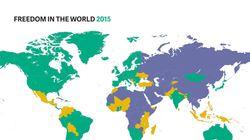 Ο χάρτης με τις πιο ελεύθερες χώρες του κόσμου. Τι ισχύει για την